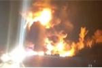 Va chạm liên hoàn, 14 ô tô chìm trong biển lửa trên cao tốc