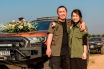 Chàng trai Hà thành rước dâu bằng 50 xe bán tải khiến dân mạng trầm trồ