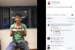 Video: Bùi Tiến Dũng nhận quà sinh nhật muộn trên sân tập