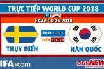 Trực tiếp Thụy Điển vs Hàn Quốc, bảng F World Cup 2018