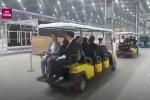 Clip: Đoàn lãnh đạo cấp cao Triều Tiên đi xe điện thăm nhà máy VinFast