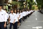 500 học sinh trường THPT Chu Văn An xếp hàng dài viếng Chủ tịch nước Trần Đại Quang