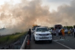 Bộ Giao thông yêu cầu ngăn việc đốt rơm rạ, ảnh hưởng giao thông