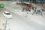 Xe tải mất phanh, san phẳng 3 ngôi nhà trong tích tắc