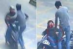 Clip: Tài xế xe tải song phi, đạp ngã tên trộm đi xe máy