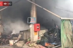 VIDEO Trực tiếp cháy chợ Quang - Hà Nội, huy động 15 xe chữa cháy