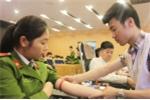 Hàng trăm học viên cảnh sát tham gia 'Ngày hội hiến máu thanh niên' 2018