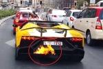 Dừng đèn đỏ vẫn ham hố nẹt pô, thiếu gia cưỡi Lamborghini lĩnh trái đắng