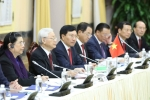 Tổng Bí thư, Chủ tịch nước Nguyễn Phú Trọng hội đàm cùng Chủ tịch và đoàn đại biểu cấp cao Cuba