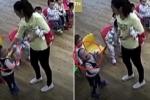 Clip: Cô giáo mầm non giật tóc, bắt trẻ ăn mù tạt vì không nghe lời