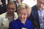 Video: Bà Hillary Clinton 'lên cơn động kinh' khi đang trả lời phỏng vấn?