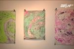Nghệ sỹ Mỹ gốc Việt dùng váng nước bẩn Hồ Tây để in tranh