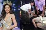 Hoa hậu Hòa bình Thái Lan quỳ lạy cảm ơn cha mẹ sau khi đăng quang