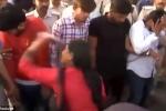 """Video: Nhóm """"yêu râu xanh"""" bị diễu phố, cho phụ nữ đánh túi bụi"""
