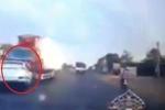 Clip: Ô tô con lao sang làn ngược chiều, tông trực diện container ở Đồng Nai