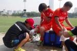 Chấn thương nặng, Tuấn Anh xin bỏ dở buổi tập của tuyển Việt Nam