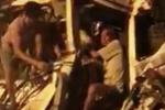 CSGT phá đầu xe giải cứu tài xế mắc kẹt trong cabin