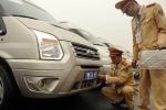 Gắn biển số đặc biệt cho xe phục vụ Đại hội Đảng