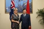 Ngoại trưởng Australia mong muốn làm sâu sắc và hiệu quả quan hệ hợp tác với Việt Nam