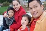 Vợ chồng Jennifer Phạm đưa hai con sang Mỹ, nô đùa trên tuyết