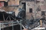 Cận cảnh hoang tàn dãy nhà gần Bệnh viện Nhi Trung ương bị thiêu rụi sau hoả hoạn