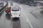 Xe khách tông xe cứu hỏa trên cao tốc: Một chiến sĩ cảnh sát PCCC hy sinh
