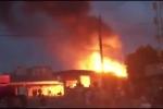 Cây xăng bốc cháy ngùn ngụt suốt 3 giờ ở Quảng Ninh