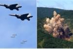 Video: Chiến cơ Hàn Quốc ném bom nặng 1 tấn, giả định tiêu diệt ban lãnh đạo Triều Tiên