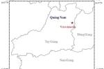 Hai trận động đất liên tiếp xảy ra trên địa bàn tỉnh Quảng Nam