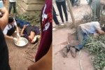Hai tên trộm gà bị người dân đánh thừa sống thiếu chết ở Bắc Giang