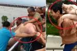 Clip: Lợn trang trại bị lũ cuốn trôi sông, dân hồ hởi ra vác về nhà
