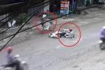 Qua đường gây tai nạn, người phụ nữ đi xe đạp dửng dưng bỏ đi như không có gì