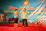 Nghệ sỹ Quang Tèo đội mưa diễn kịch tại 'Hát cùng chiến sỹ công an'