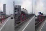 Hà Nội: 2 phụ nữ giỡn mặt tử thần, lao xe máy ngược chiều trên đường vành đai 3