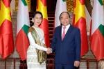 Thủ tướng hội đàm với Cố vấn Nhà nước Myanmar