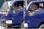 Bé trai 10 tuổi lái xe tải băng băng: Ông chú giao tay lái cho cháu nói gì?