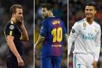 Top 10 tiền đạo hay nhất thế giới 2017: Harry Kane vượt Messi, Ronaldo