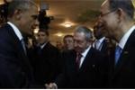Video: Cái bắt tay lịch sử của Tổng thống Obama và Chủ tịch Raul Castro