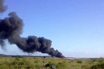 Video: 'Quái vật' trên không Mỹ bốc cháy giữa quốc lộ
