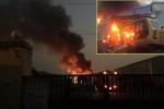 Cháy ở khu Công nghiệp Phố Nối A: Hơn 5 tiếng đồng hồ vẫn chưa dập được lửa