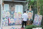 Hoa si Viet mong duoc tang buc tranh chan dung cho 2 nha lanh dao My - Trieu tai Ha Noi hinh anh 1