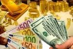 Giá vàng lình xình, giá USD giảm sâu