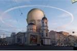 Xôn xao vầng hào quang bí ẩn xuất hiện khi Tổng thống Putin tới vận động tranh cử
