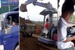 Những lần bố mẹ Việt 'hồn nhiên' cho con nhỏ lái ô tô, xe tải, máy xúc