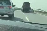 CSGT rượt đuổi xe tải chở lợn trên cao tốc như phim hành động
