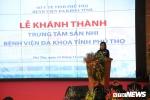 Bộ trưởng Y tế cắt băng khánh thành Trung tâm Sản Nhi 5 sao tại Phú Thọ