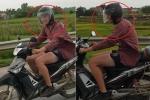 Thanh niên Tây đi xe máy trên cao tốc Nội Bài - Lào Cai, cười toe khi bị quay clip