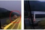 Clip: Xe 16 chỗ lao ngược chiều vun vút trên cao tốc Nội Bài - Lào Cai