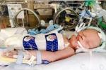 Giáng sinh đầu tiên của em bé 10 ngày tuổi sống sót kỳ diệu sau khi rút máy thở