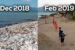 Video: Thử thách dọn rác ở bãi biển Vĩnh Lương, Nha Trang khiến dân mạng dậy sóng
